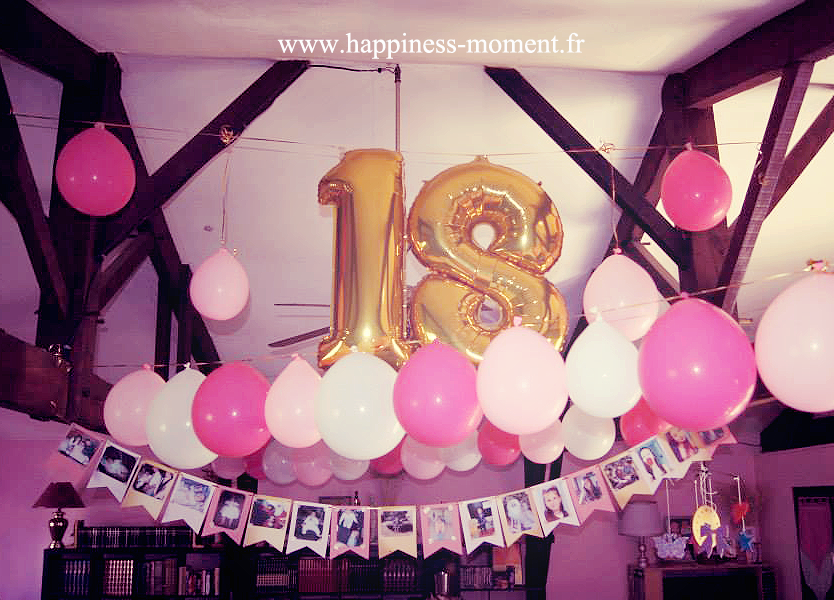 decoration anniversaire 18 ans ballons gosupsneek. Black Bedroom Furniture Sets. Home Design Ideas