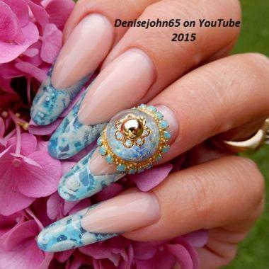 Nail Art Tutorial Water Snow Globe Nails