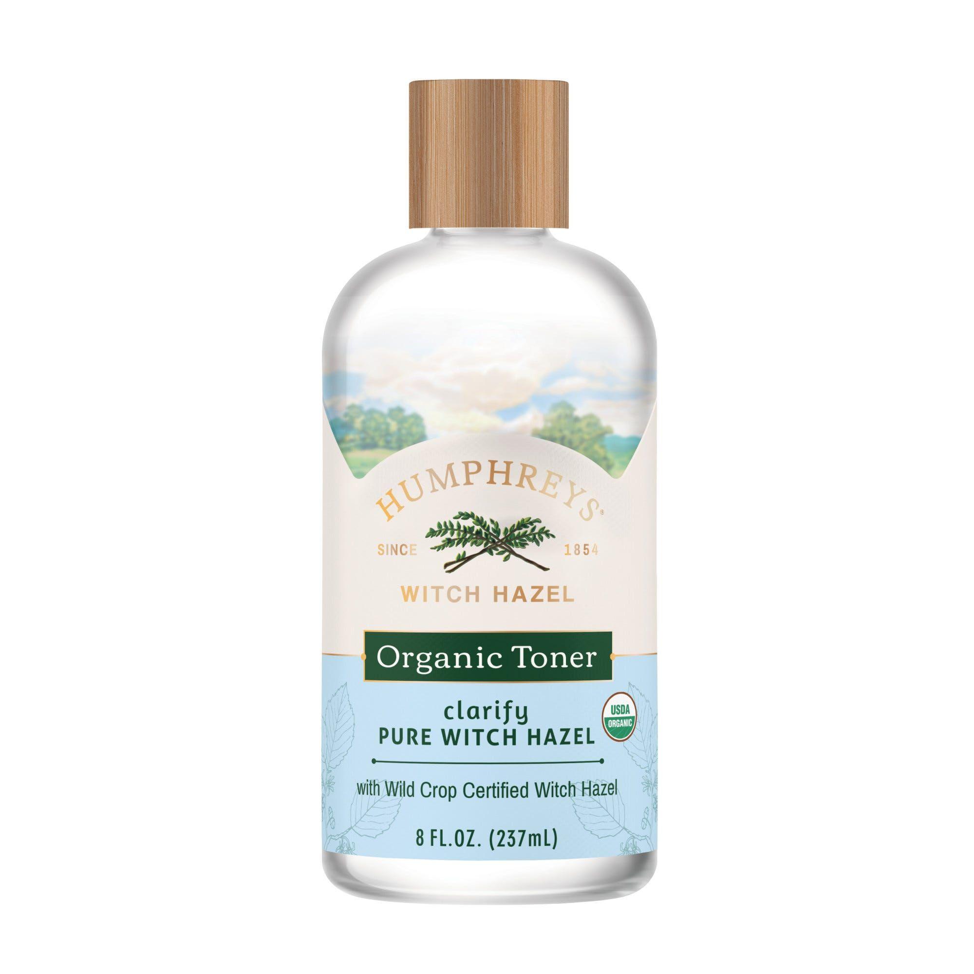 Humphreys Witch Hazel, Clarify Organic Toner - 8 oz