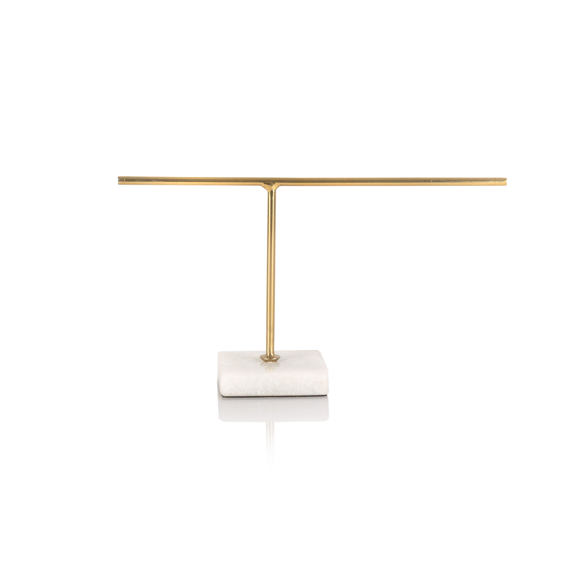 the small gold marble jewellery stand at oliver bonas enjoy