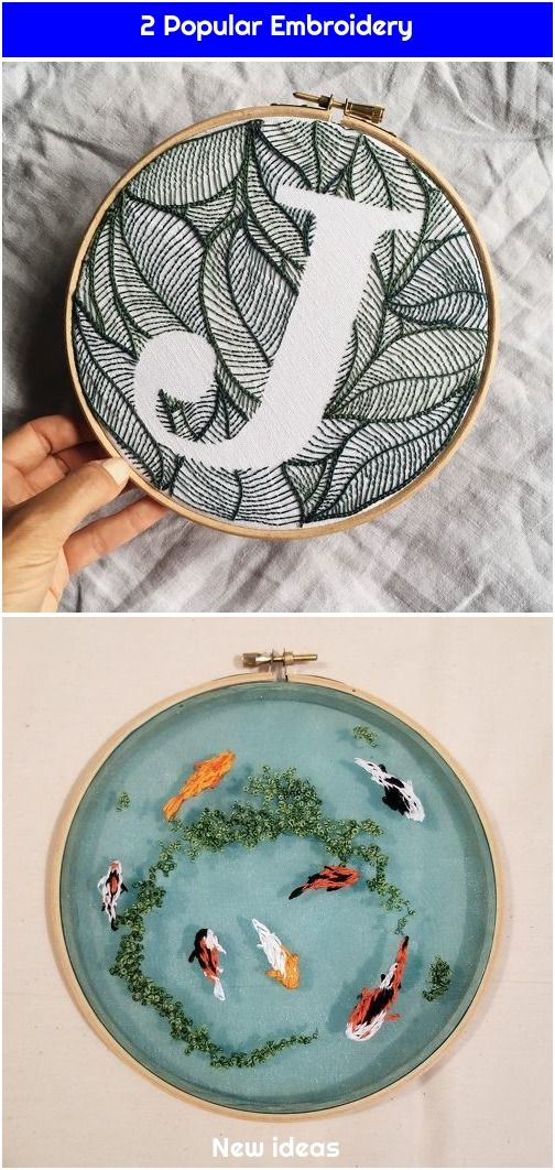 1. Personalized Leaves Design Hand Embroidery Monogram Hoop / Botanical Pattern Custom Letter Embroidery Art / Embroidered Boho Gift Wall -#Art, #Boho, #Botanical, #Custom, #Decor, #Design, #Duckweed, #Embroidered, #Embroidery, #Gift, #Hand, #Handembroidered, #Handembroidery, #Hoop, #Koi, #Leaves, #Letter, #Monogram, #Pattern, #Personalized, #Pond, #Somethingimade, #Wall