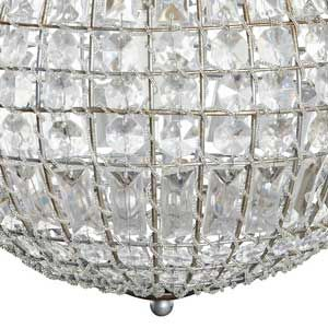 suspension boule en verre et m tal crystal h bsch d co