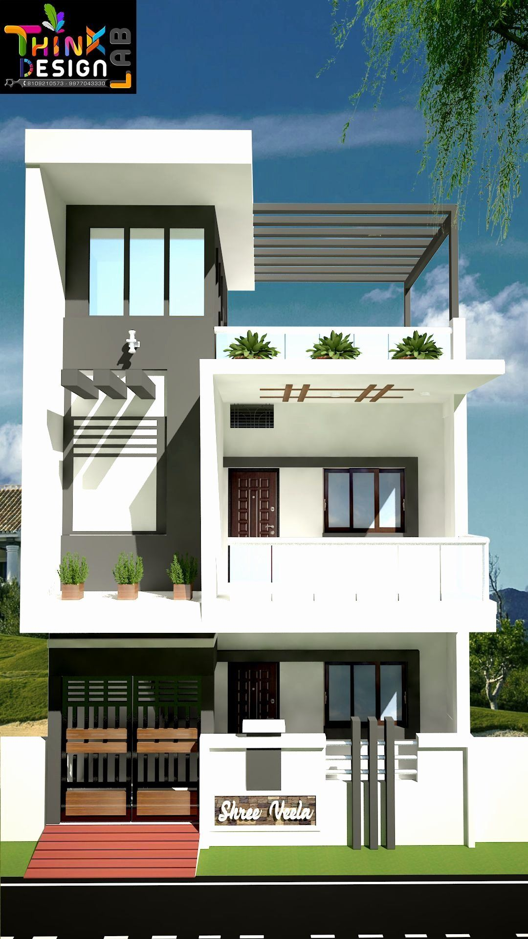 2 Floor Home Front Design Elegant A 29 Lovely Home Plans Modern Front Elevation To Pl In 2020 Small House Front Design Small House Design Exterior House Front Design