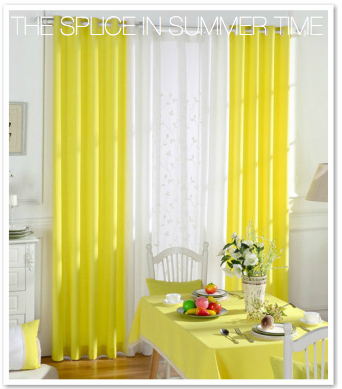 Yellow Splice Custom Sheer Blackout Curtain Set Kids Curtains