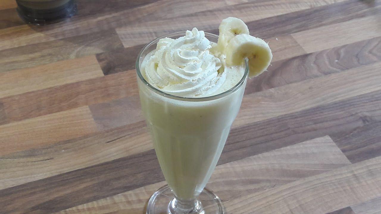 Banana milkshake in 5 minutes banana milkshake