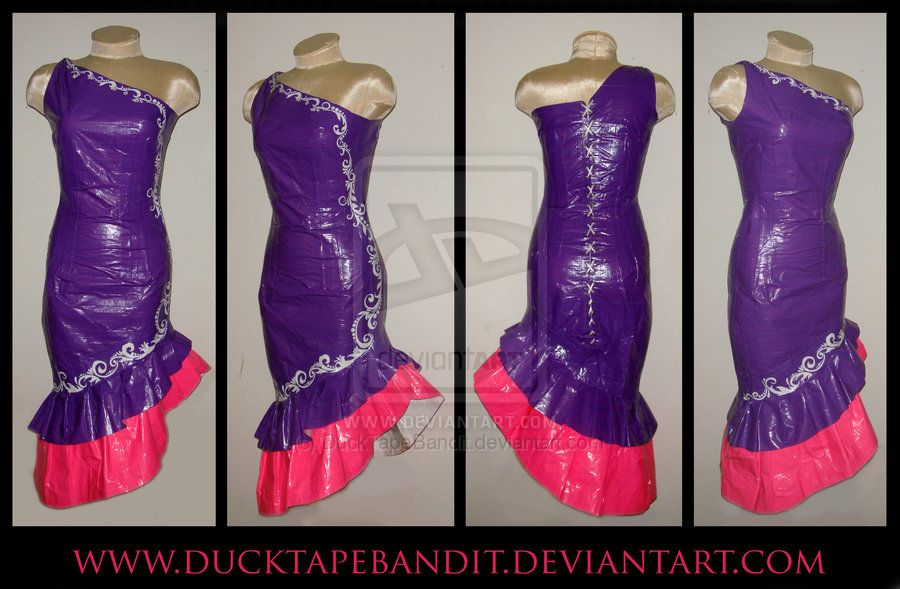 duct tape advertising | Duct Tape Dress Pattern | I got to try ...