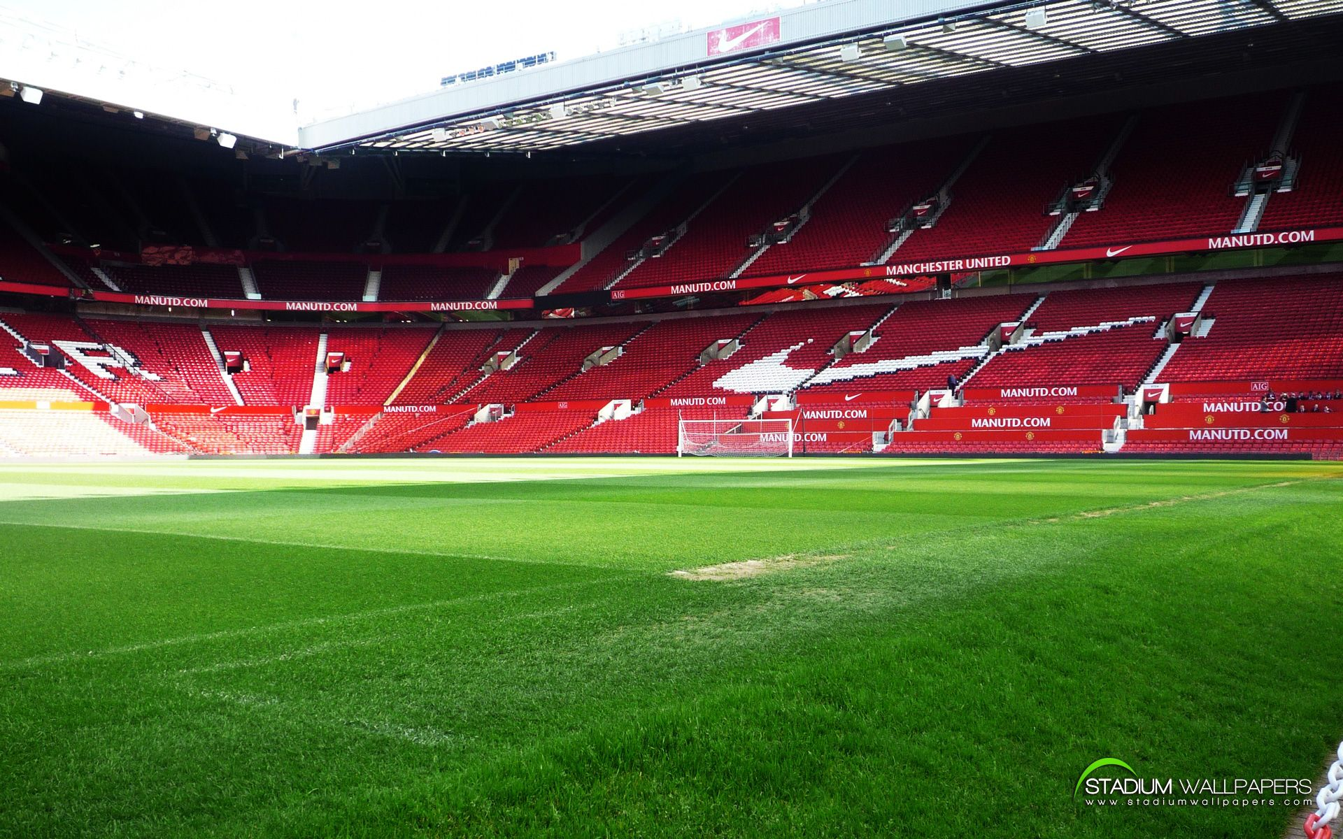 Old Trafford Stadium England HD Widescreen Wallpaper Dengan