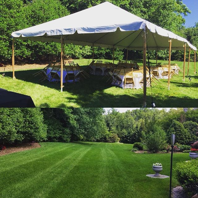 Before Amp After Featuring Our 20x40 Commercial Tent One
