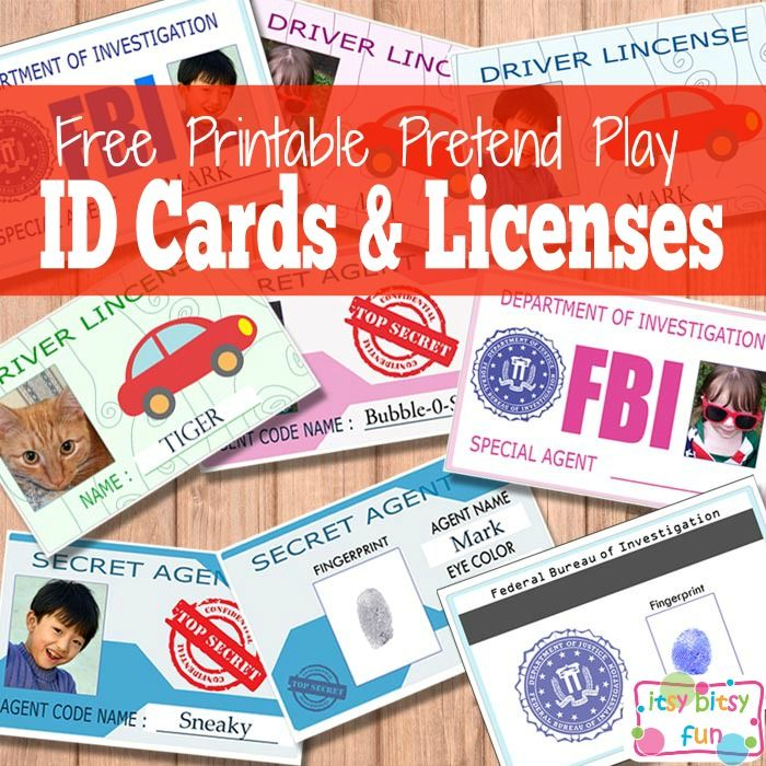 Free Printable Licenses And Id Cards For Kids  Free Printable
