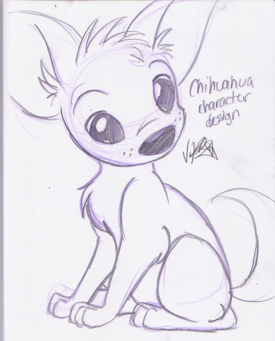 Chihuahua drawing chihuahuas pinterest drawings for Art sketches easy