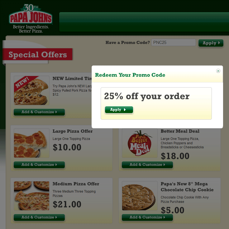 Pinned August 23rd 25 Off At Papa Johns Pizza Via Promo Code Pnc25 Coupon Via The Coupons App Free Printable Coupons Pizza Coupons Good Pizza