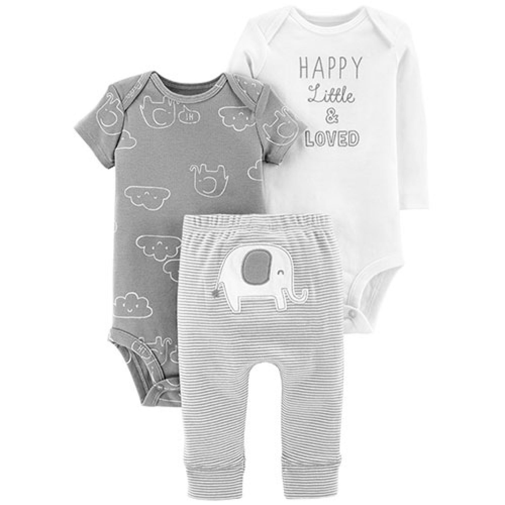 Photo of Baby Boy (NB-24M) Carter's� 3pc. Happy and Loved Elephant Set