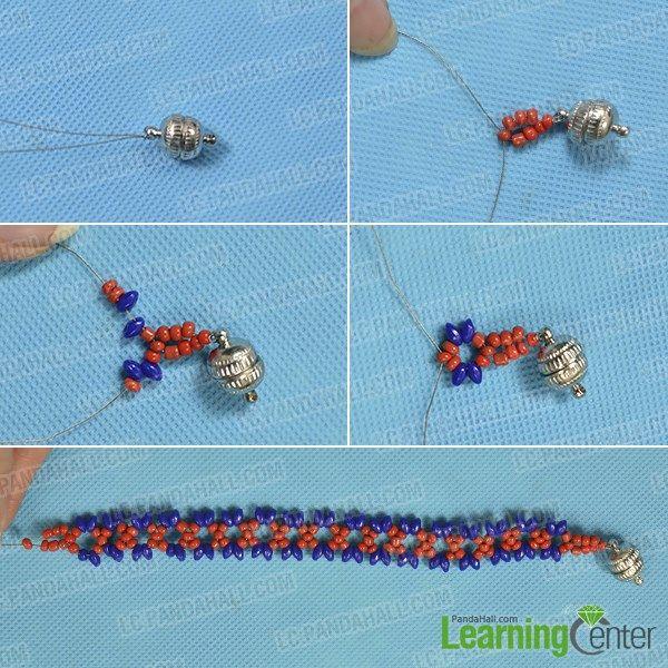 Bead The Woven Bracelet Pattern Beadworks Pinterest Bracelet