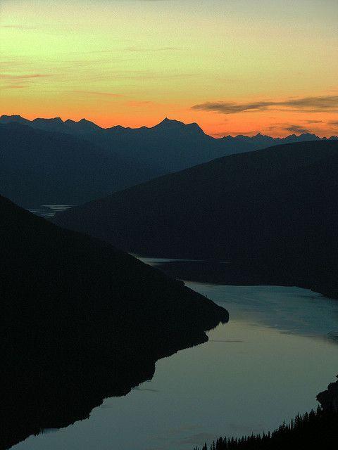 Sunset Towards Mica Creek from Mount Sale near #Revelstoke, BC
