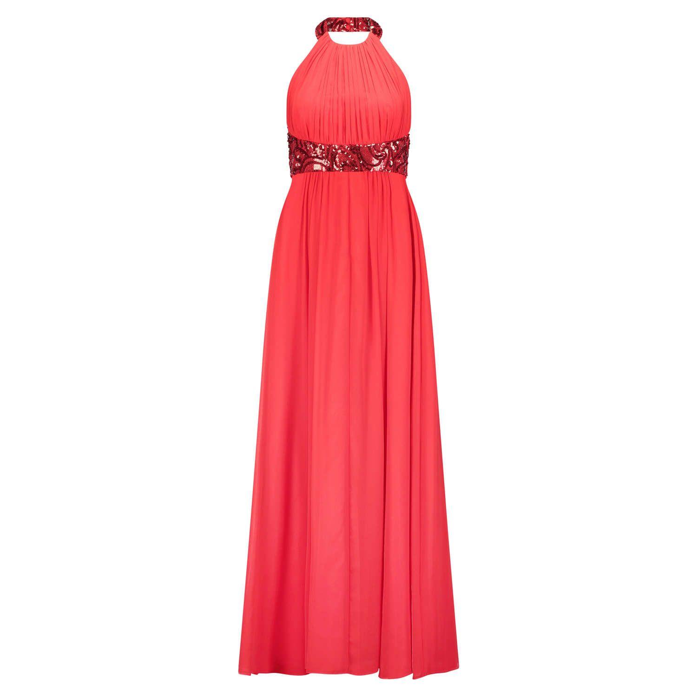 VERA MONT Rückenfreies Abendkleid mit Pailletten ▻ Das bodenlange