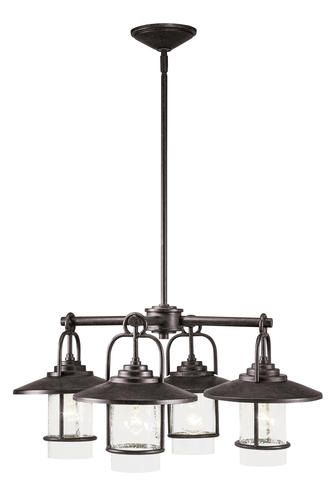 Patriot Lighting Elegant Home Miner Bronze 4 Light Chandelier Home Decor I