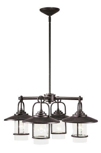 Patriot Lighting Elegant Home Miner Bronze 4 Light Chandelier At