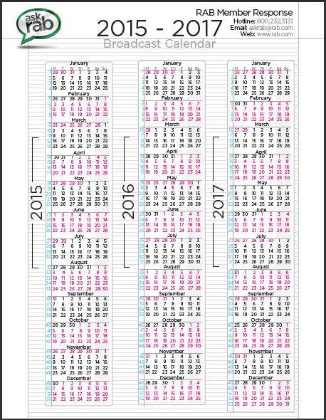 3 year calendar printable