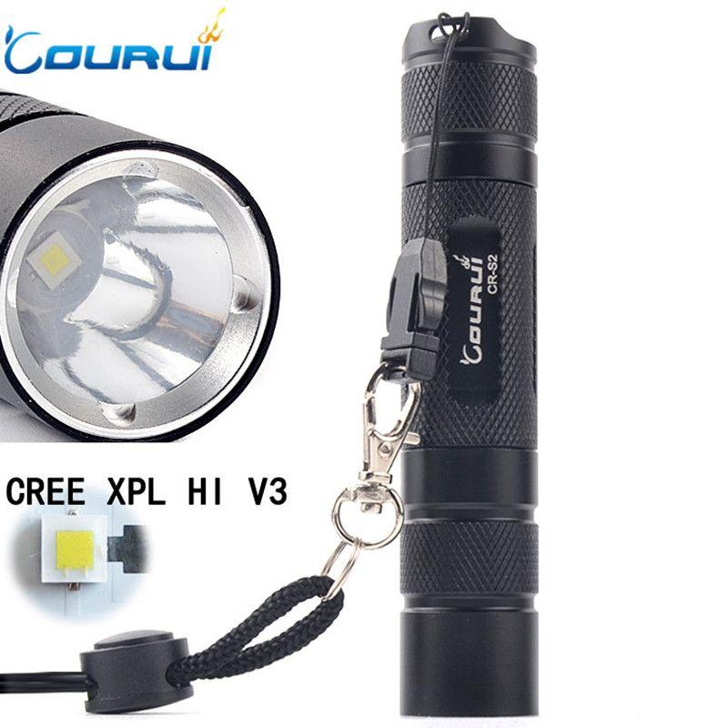Courui Cr S2 Powerful Tactical Led Flashlight 18650 Cree Xpl Hi V3 1200lm High Power Pocket Light Penlight With Images Pocket Light Tactical Led Flashlight Led Flashlight