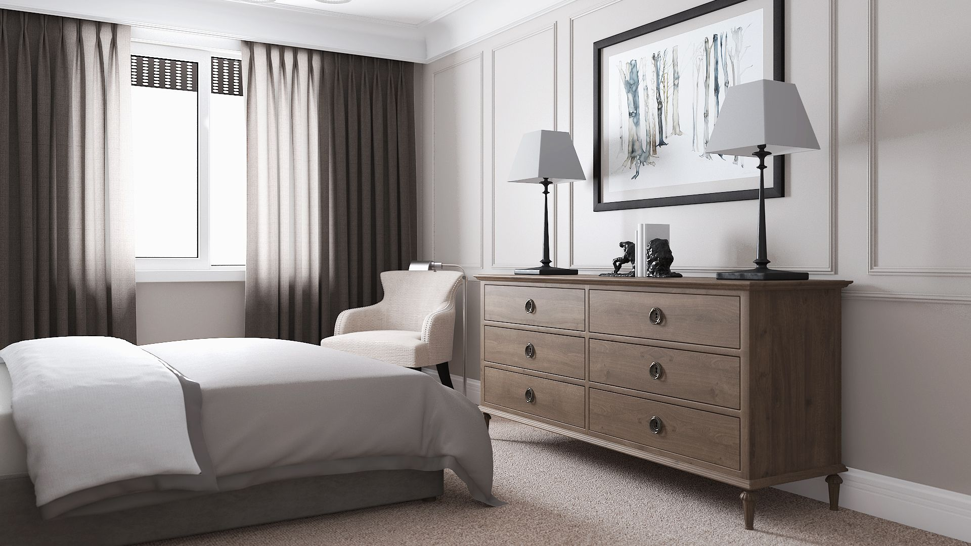 in Reach Chaise Lounge-3D | Home bedroom, Dresser as nightstand ...