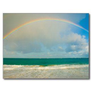Ocean City Nj Beach Invitations Rainbow Over Ocean Postcards Beach Invitations Nj Beaches Postcard