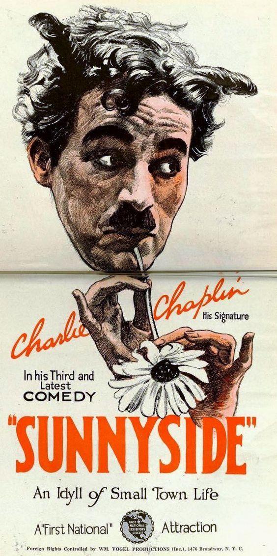 Sunnyside Charlie Chaplin 1919 movie poster print