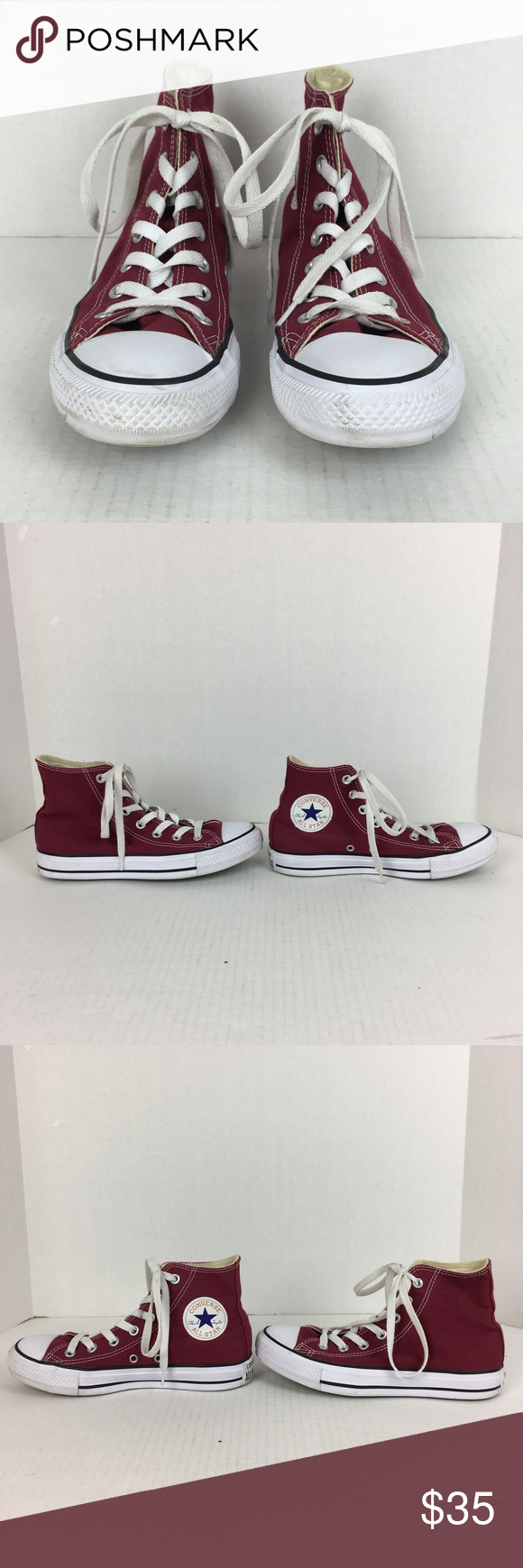961240cb275d Burgundy Converse All Star Hightops!! Size 7. LIKE NEW!!!! Perfect for the  Aggie in your life for game day!! Converse Shoes Sneakers