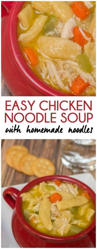the best ever homemade chicken noodle soup with egg