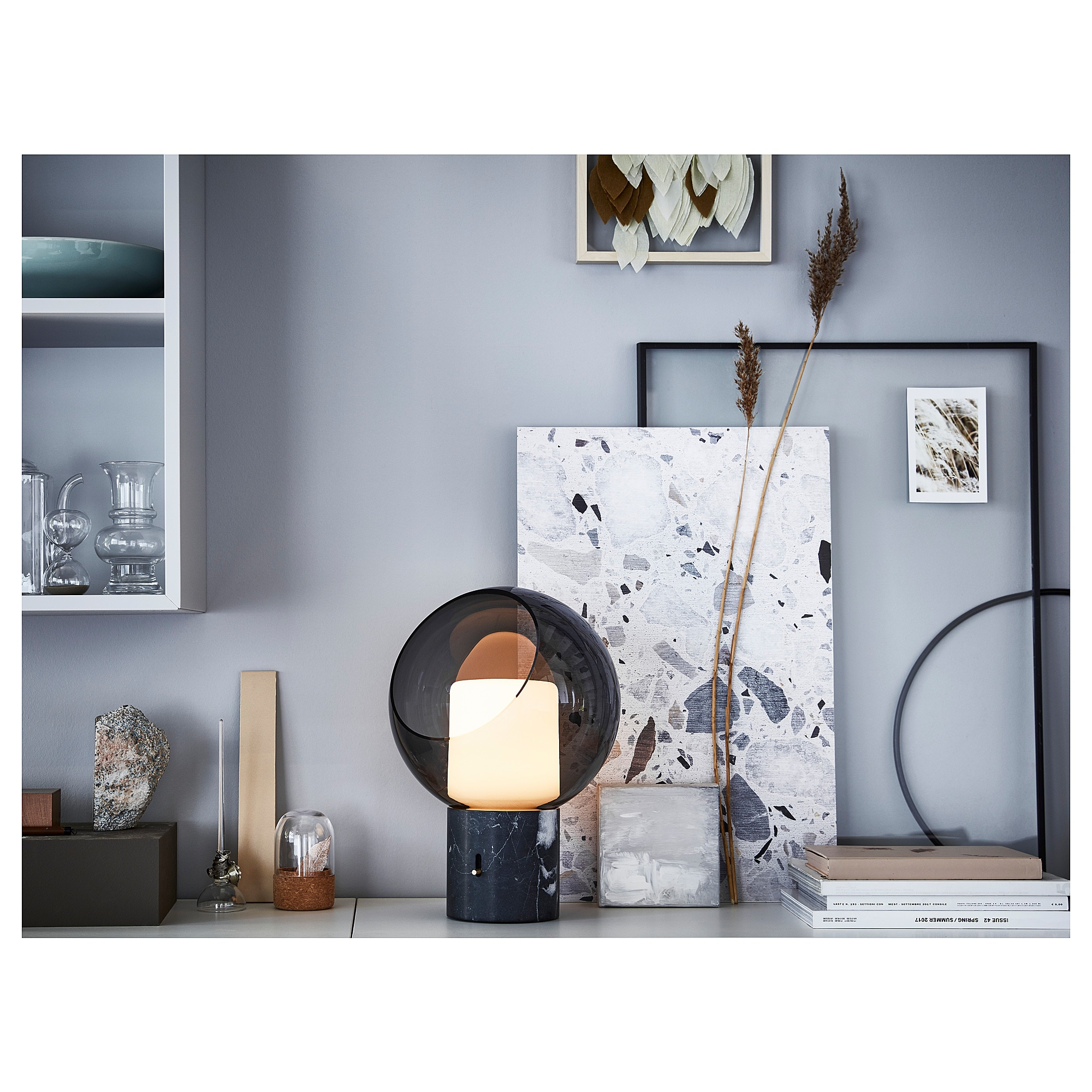 6bc4bb5c0cb IKEA - EVEDAL Table lamp gray, globe in 2019 | Lights / Lamps | Ikea ...