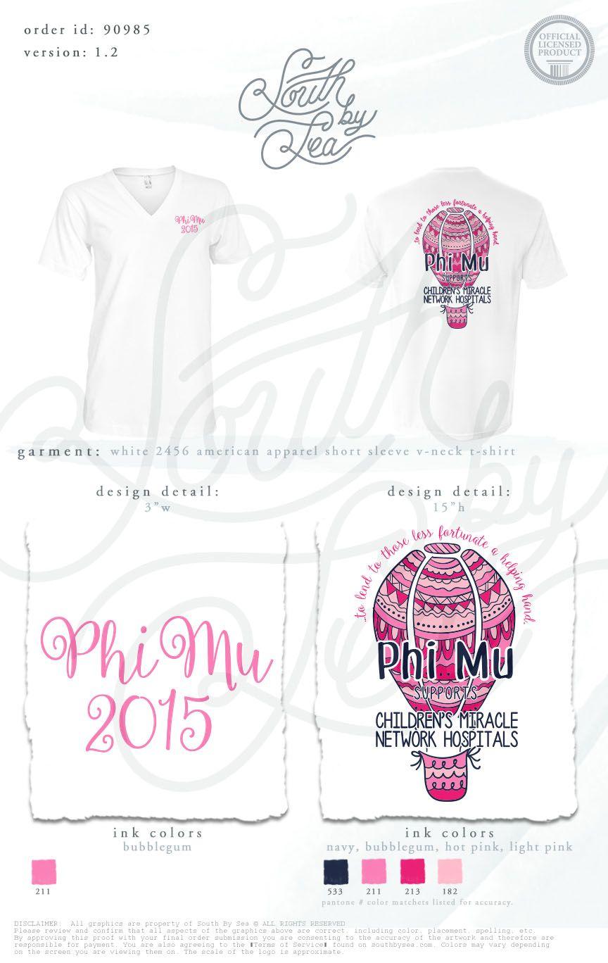 T shirt design quad cities - Phi Mu Philanthropy Phi Mu Philanthropy Tee Shirt Ideas Hot Air Balloon Tee