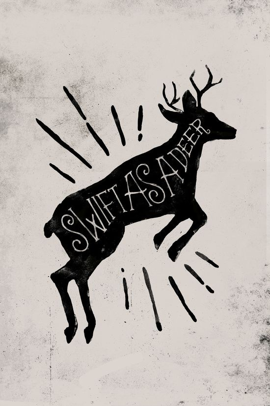 Swift As A Deer Art Print