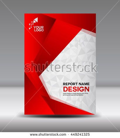 Red Cover design Annual report vector template illustration - advertisement brochure