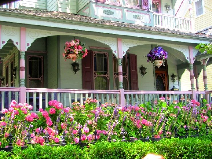 Beautiful and Colorful Cape May Front Porches