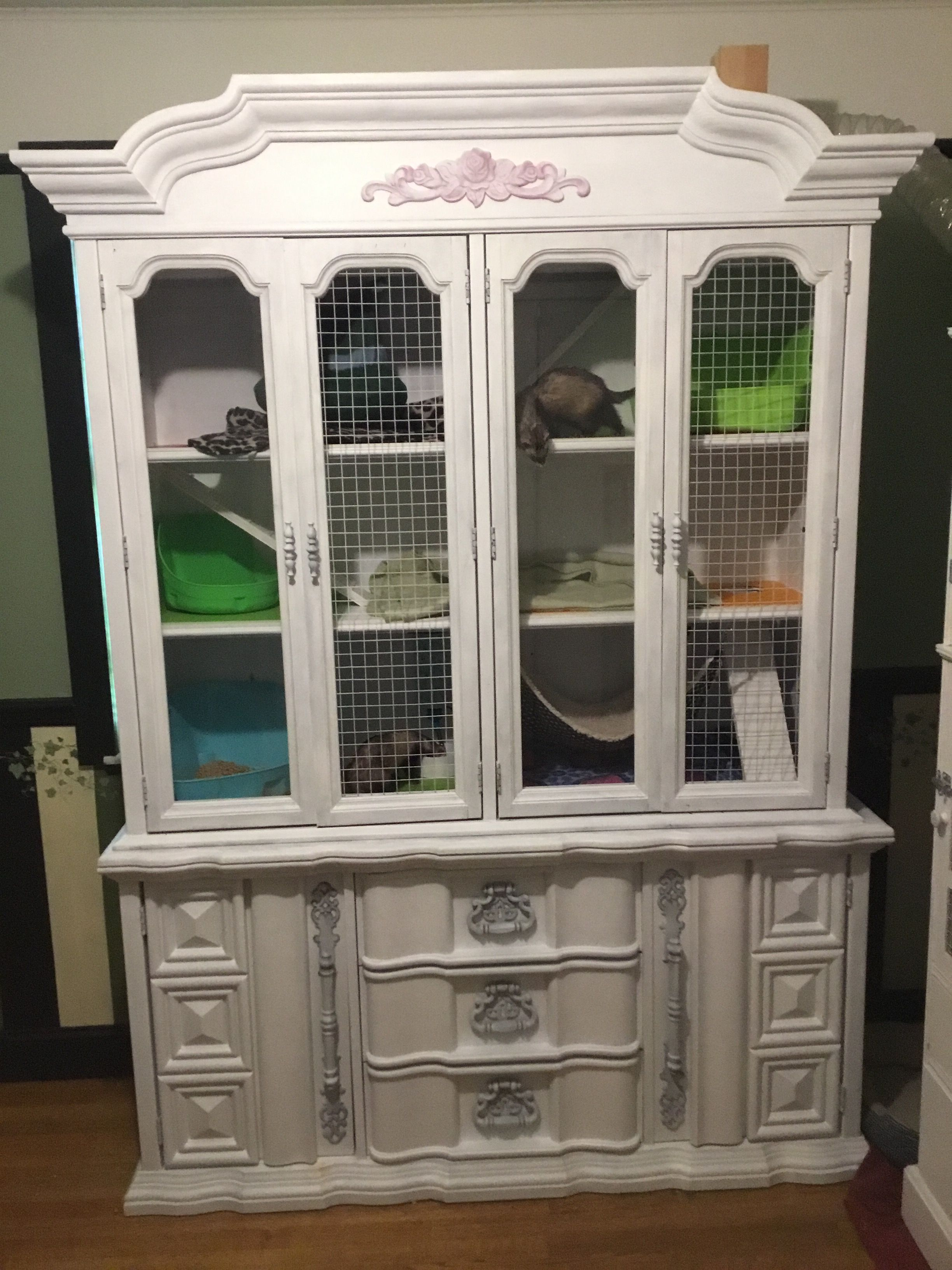 From china cabinet to ferret mansion ferret home ideas pinterest