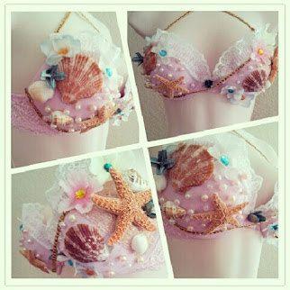 mermaid bra top for halloween