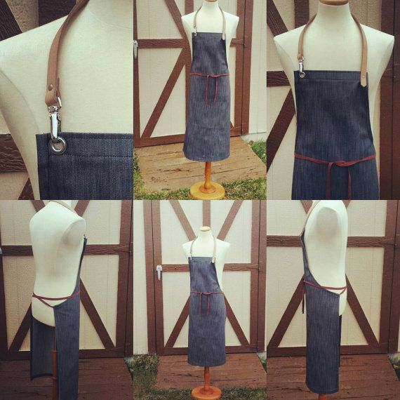 Check out this item in my Etsy shop https://www.etsy.com/listing/274565264/salvage-denim-apron-with-leather-neck
