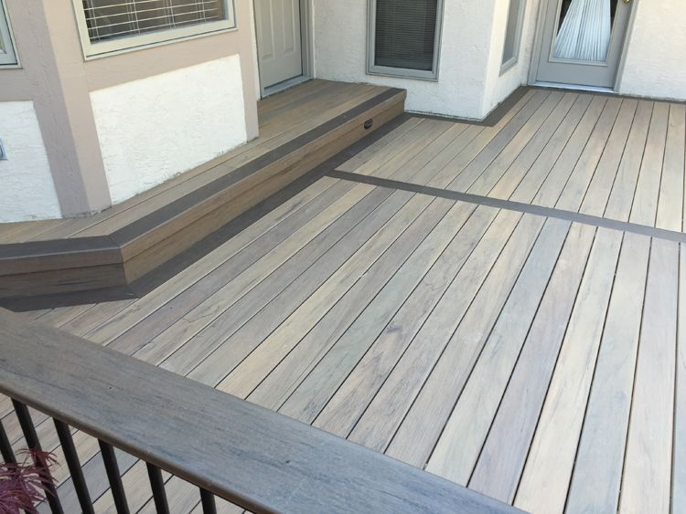 TimberTech tigerwood decking with mocha picture frame lr | Outdoor ...