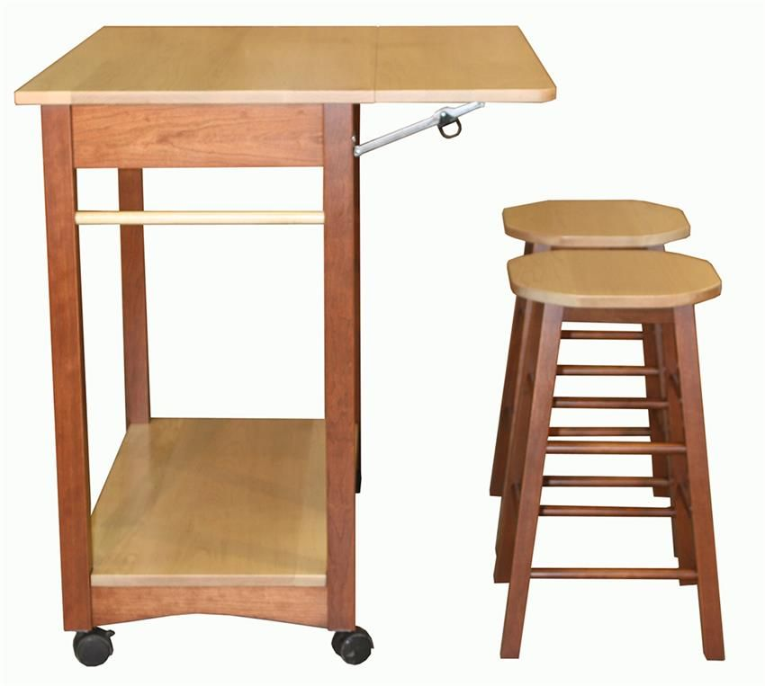 Super Amish Solid Wood Kitchen Island With Two Bar Stools Cabin Download Free Architecture Designs Grimeyleaguecom