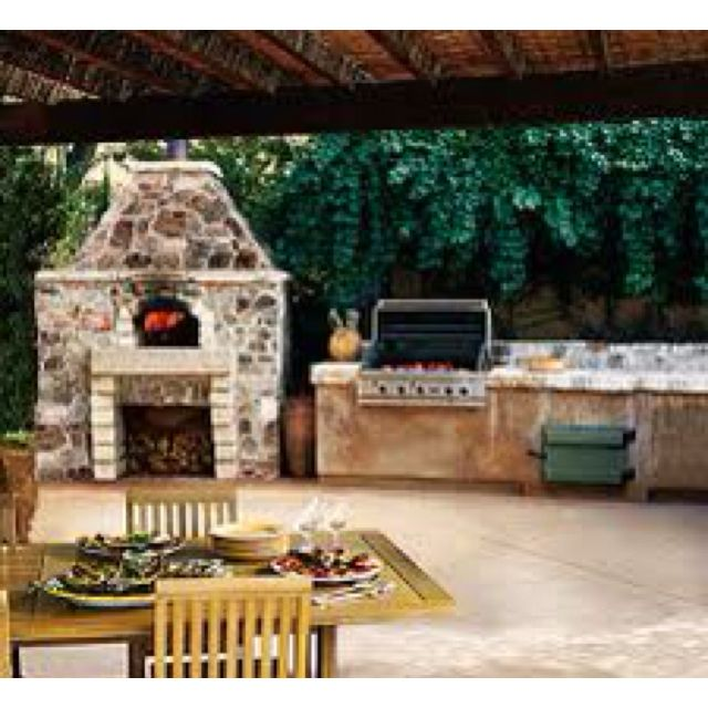 Great Bbq Pit Set Up For The Backyard Perfect Under The