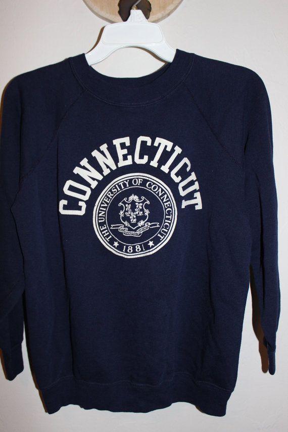3e6c3ad3 Vintage university of connecticut sweatshirt/uconn sweatshirt/soft ...