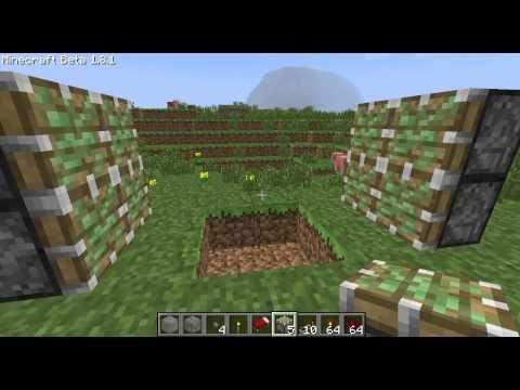 Minecraft Redstone Tutorial 2x2 Trap Doors Secret Entrance