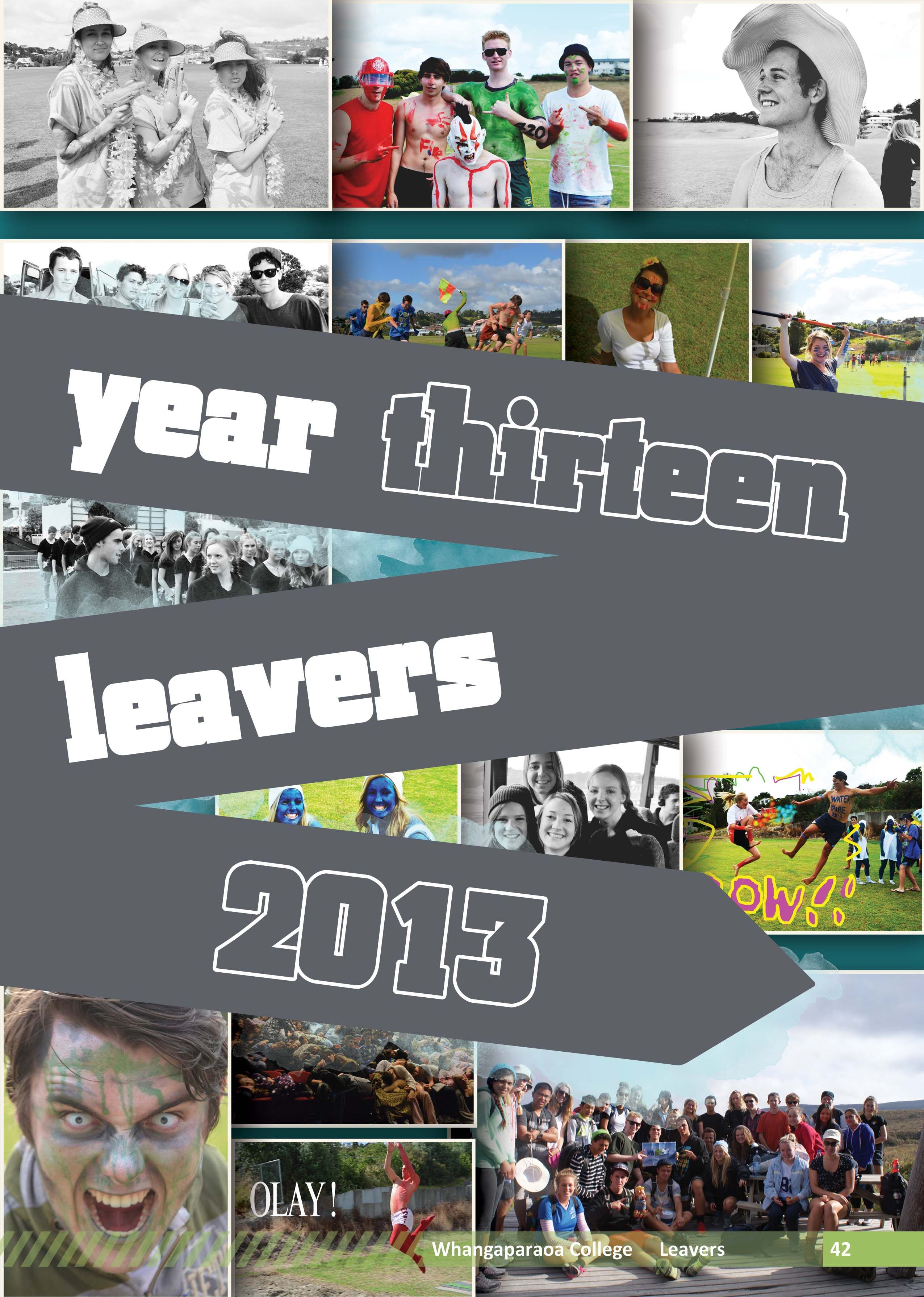 yearbook page - leavers title