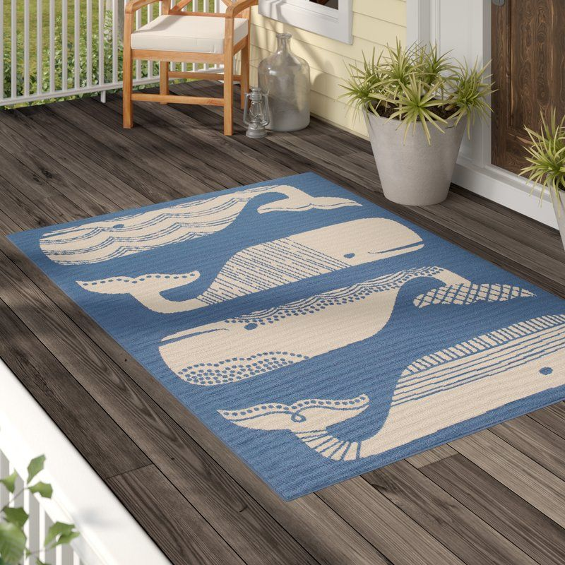 Janiyah Blue White Indoor Outdoor Area Rug Outdoor Area Rugs Indoor Outdoor Area Rugs Area Rugs