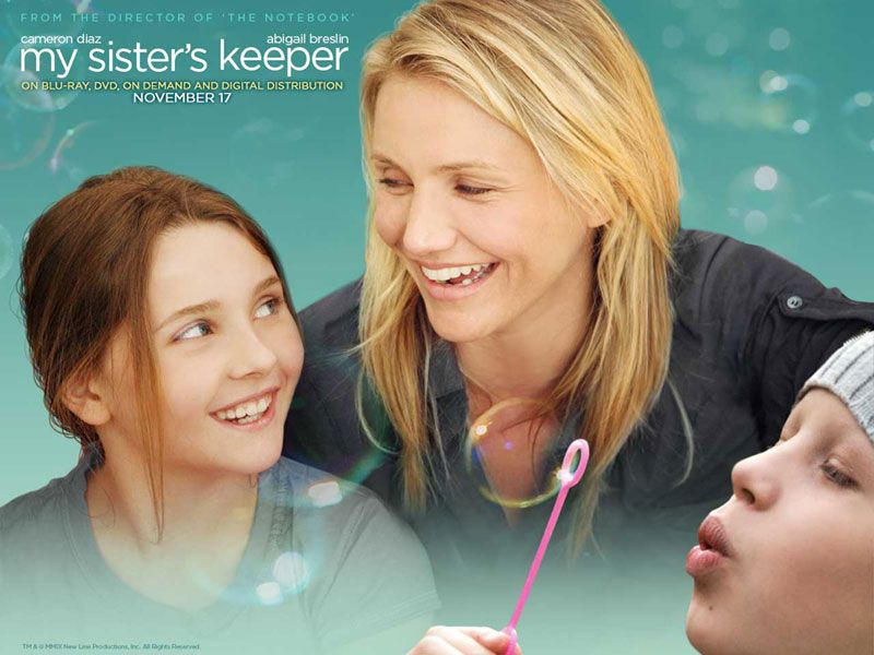 o movie to cry | My sisters keeper, Sister keeper, Movie ...Cameron Diaz Movies Sad