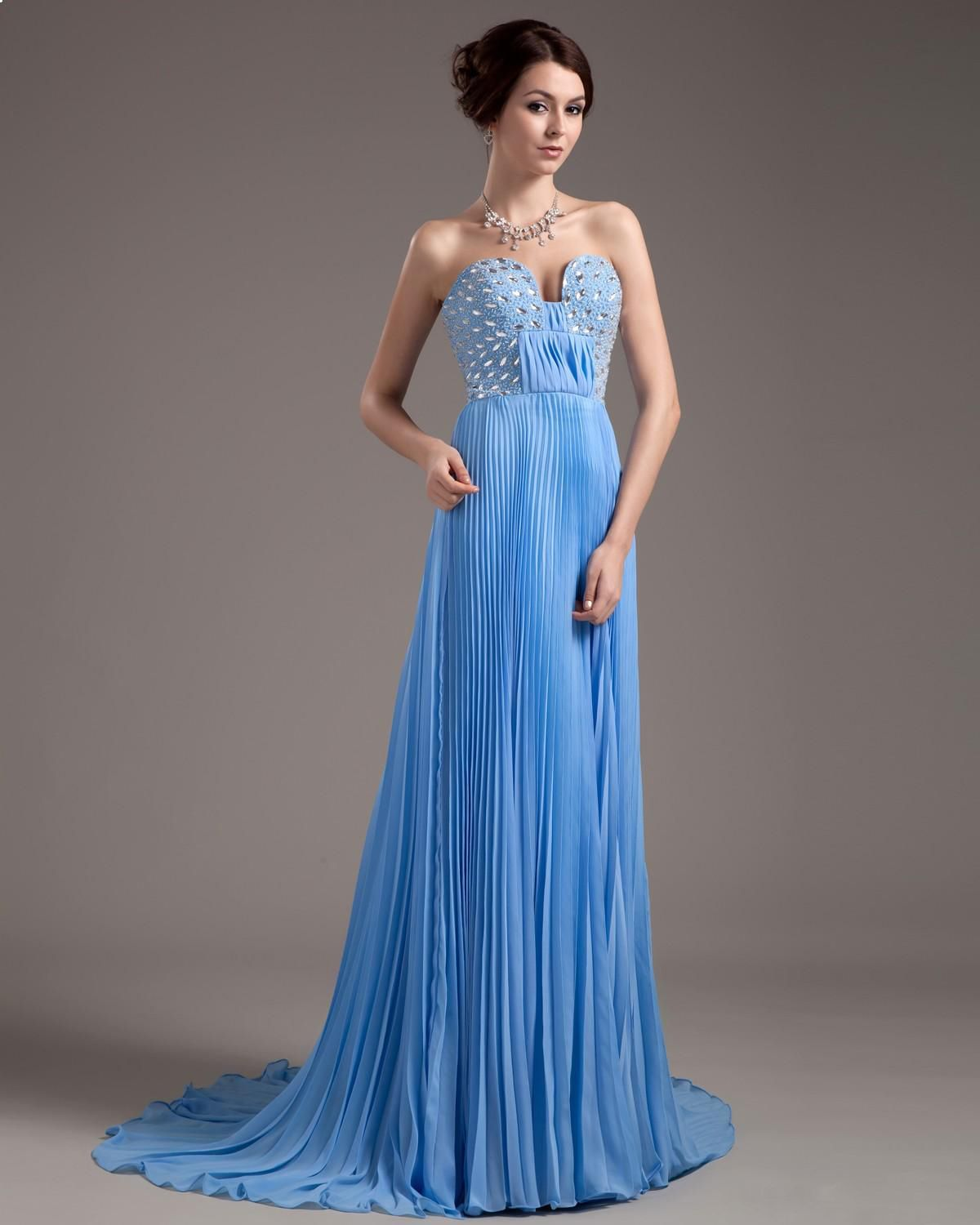 Special Occasion Chiffon Sweetheart Womens Celebrity Dress