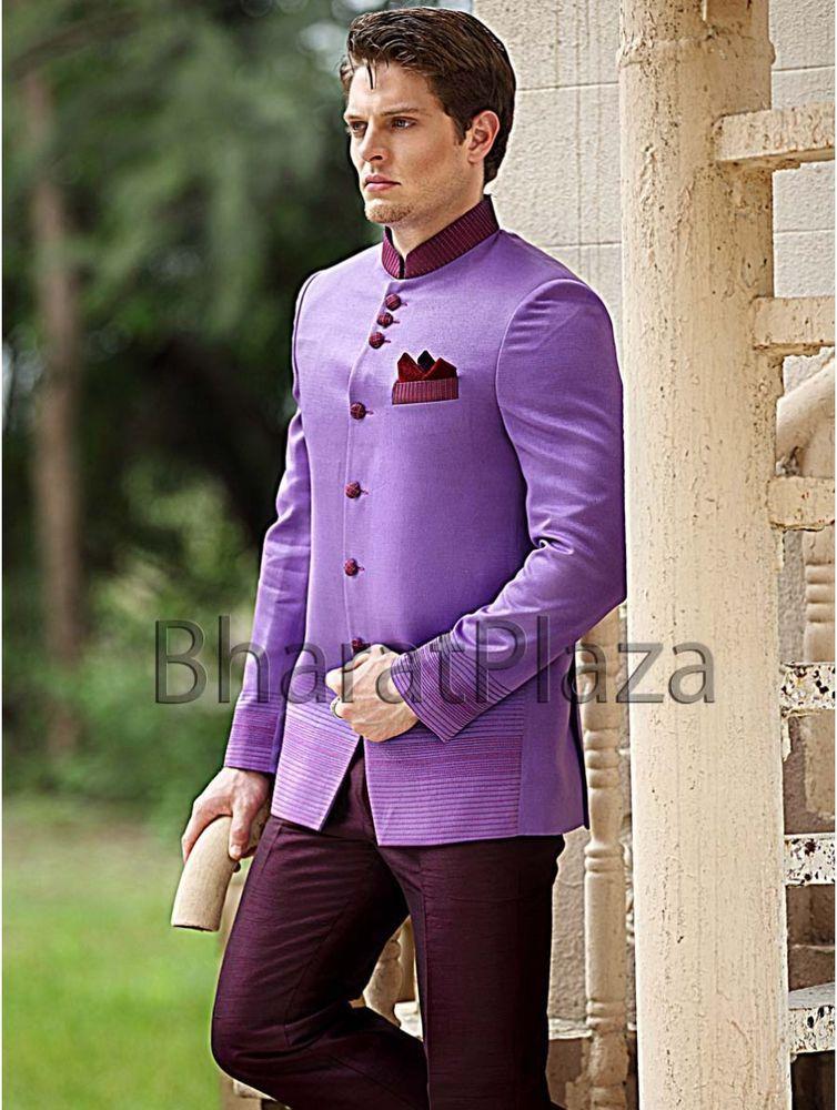 Reception Desinger Imported Fabric 6 Button Jodhpuri Men Suit ...