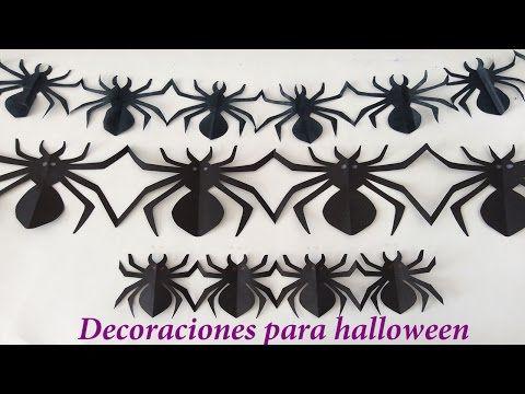 Como hacer arañas de papel, Como hacer arañas para Halloween, arañas ...