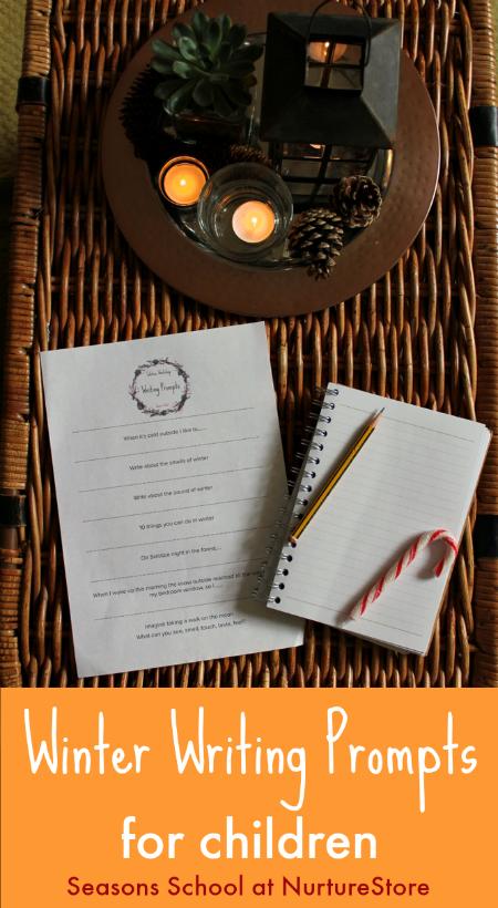 Winter-themed creative writing prompts for children - NurtureStore