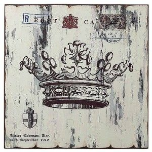 King And Queen Crown Wall Decor lazy susan in. white crown print wall décor | kings & queens