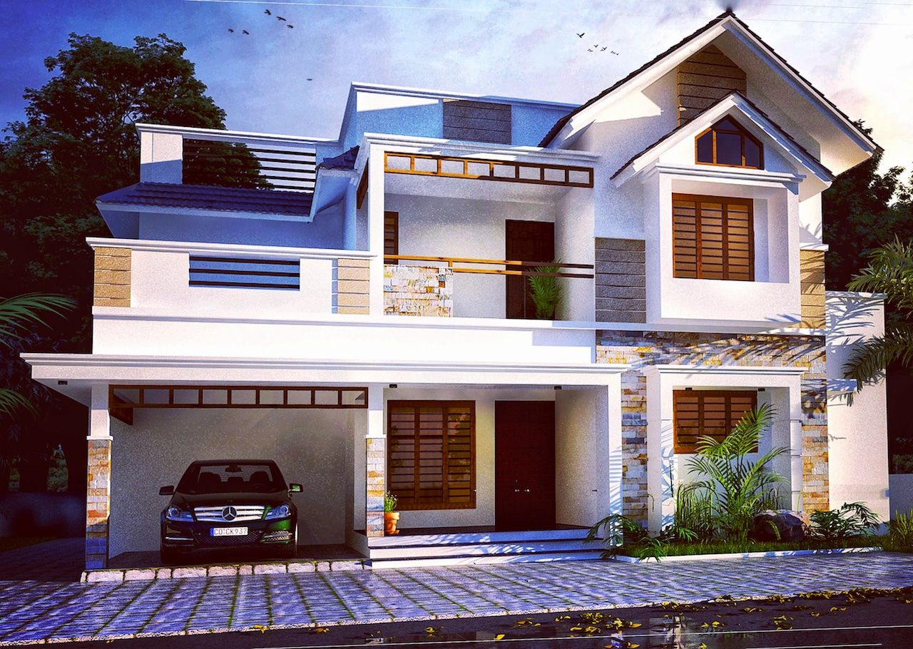 Indian Home design 2000 sq ft 4 bed room residence plan ...